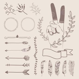 Ręcznie rysowane projektowanie podróży