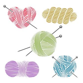 Ręcznie rysowane przędza na drutach.