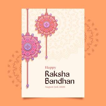 Ręcznie rysowane raksha bandhan kartkę z życzeniami