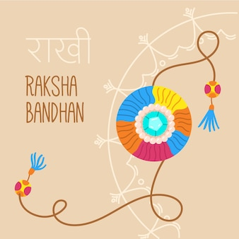 Ręcznie rysowane raksha bandhan koncepcja