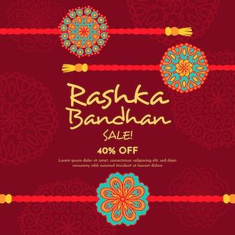 Ręcznie rysowane raksha bandhan sprzedaży