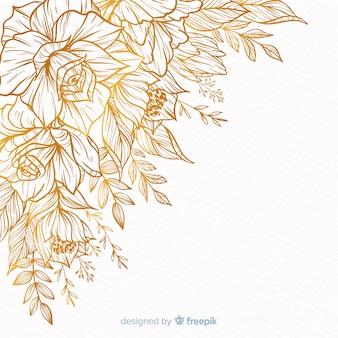 Ręcznie rysowane ramki dekoracyjne kwiatowe