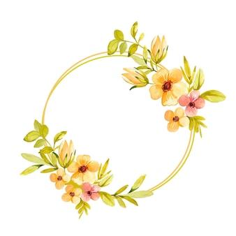 Ręcznie rysowane ramki kwiatowe