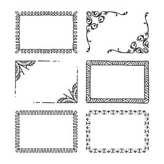 Ręcznie rysowane ramki ozdobne