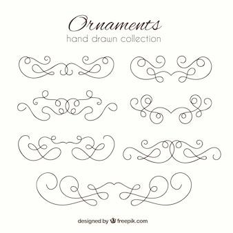 Ręcznie rysowane ręcznie rysowane zabytkowe elementy ozdobne