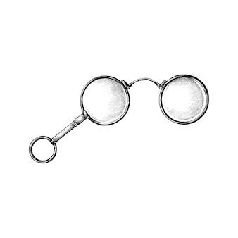 Ręcznie rysowane retro okulary