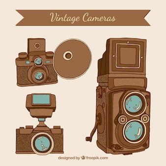 Ręcznie rysowane rocznika kamery zdjęcie