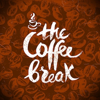 Ręcznie rysowane rocznika kawy tło. szkic ilustracji wektorowych. projekt menu. plakat typograficzny