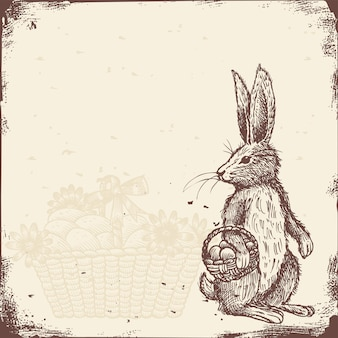 Ręcznie rysowane rocznika królików