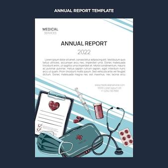 Ręcznie rysowane roczny raport medyczny