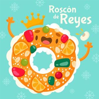 Ręcznie rysowane roscon de reyes