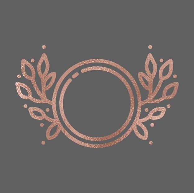 Ręcznie rysowane rose gold frame