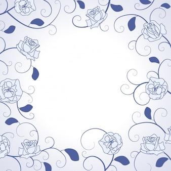 Ręcznie rysowane róż ramki