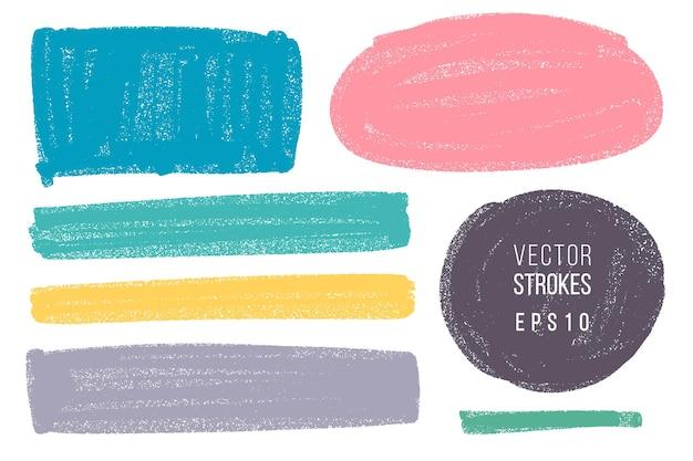 Ręcznie rysowane różne kształty geometryczne dla tła. kolorowe artystyczne ręcznie rysowane tła.