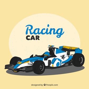 Ręcznie rysowane samochód wyścigowy formuły 1