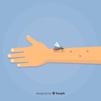 Ręcznie rysowane skład komara gryzie