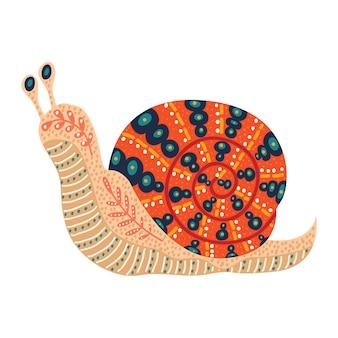 Ręcznie rysowane ślimak ludowy