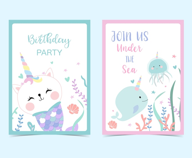 Ręcznie rysowane słodkie karty