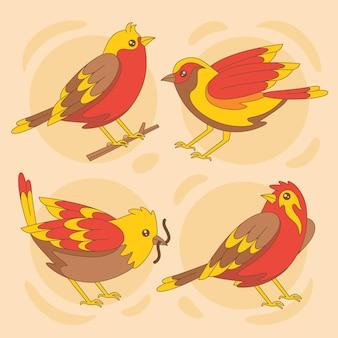 Ręcznie rysowane słodkie kolorowe rudziki opakowanie