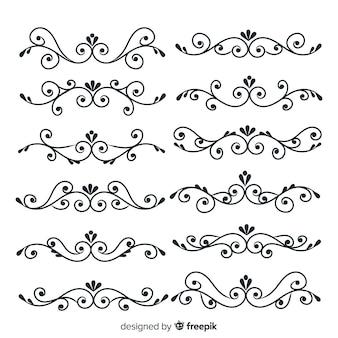 Ręcznie rysowane ślubna kolekcja ornament