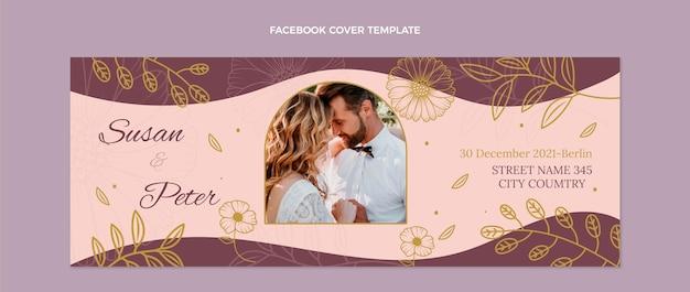 Ręcznie rysowane ślubna okładka na facebook