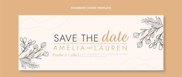 Ręcznie rysowane ślubna okładka na facebookfacebook