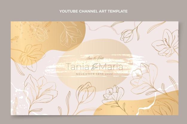 Ręcznie rysowane ślubna sztuka kanału youtube
