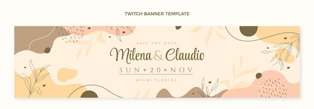 Ręcznie rysowane ślubny baner twitch