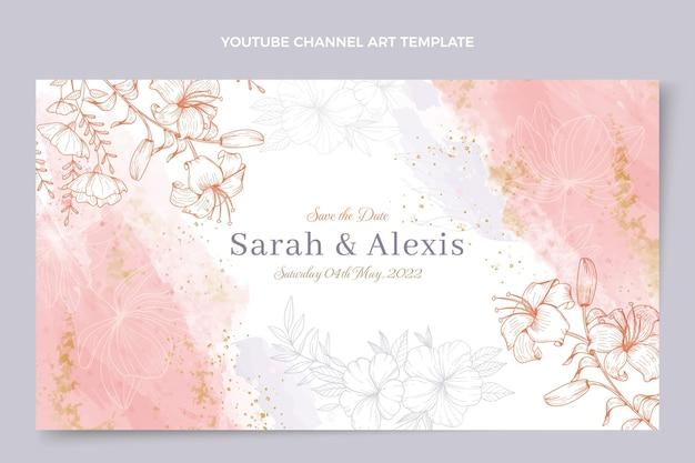 Ręcznie rysowane ślubny kanał youtube