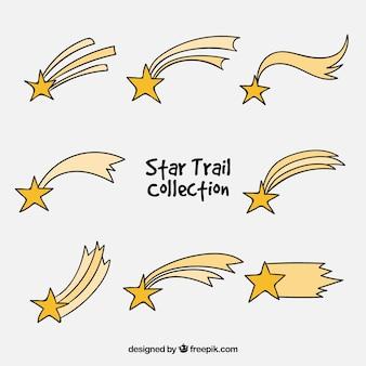 Ręcznie rysowane spadająca gwiazda paczka
