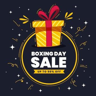 Ręcznie rysowane sprzedaż boksu