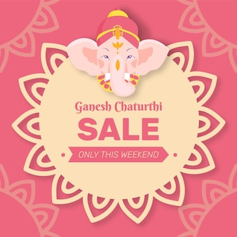 Ręcznie rysowane sprzedaży ganesh chaturthi