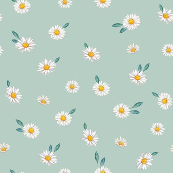 Ręcznie rysowane stokrotka kwiat wzór