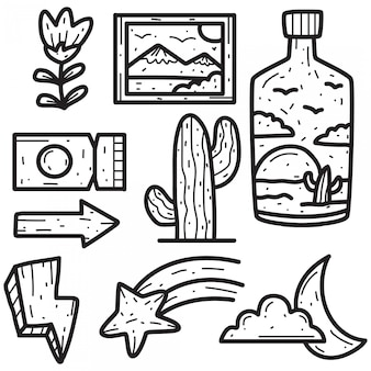 Ręcznie rysowane streszczenie doodle projekt