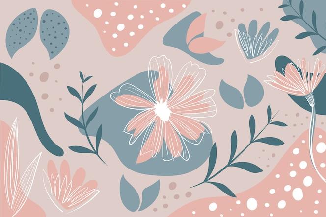 Ręcznie rysowane streszczenie tapeta z organicznych kształtów