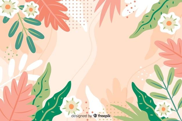 Ręcznie rysowane streszczenie tło kwiatowy