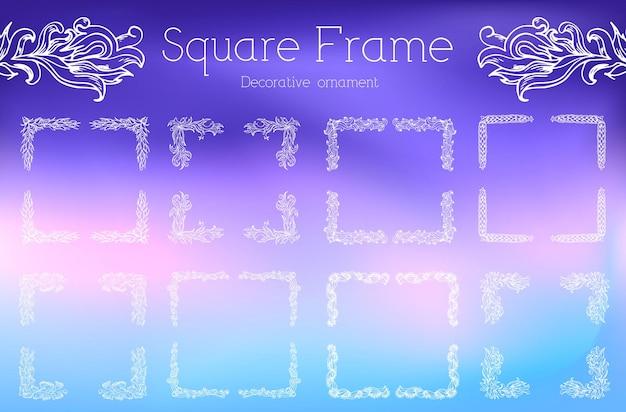Ręcznie rysowane streszczenie tło ornament rama ilustracja koncepcja.