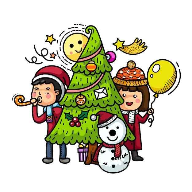 Ręcznie rysowane strony wesołych świąt