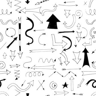Ręcznie rysowane strzałki wzór do projektowania i prezentacji biznesowych.
