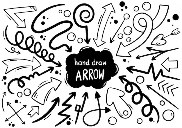 Ręcznie rysowane strzałki