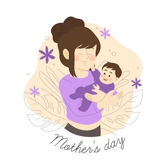 Ręcznie rysowane styl imprezy dzień matki