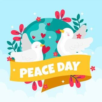Ręcznie rysowane styl międzynarodowy dzień pokoju