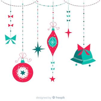 Ręcznie rysowane styl świątecznych dekoracji