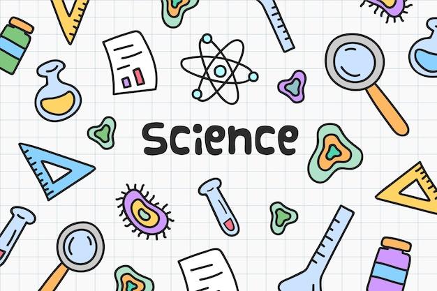 Ręcznie rysowane styl tła naukowego
