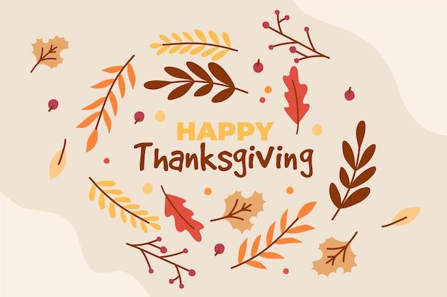 Ręcznie rysowane styl tło dziękczynienia