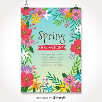 Ręcznie rysowane stylowa kolekcja sezonowych plakatów