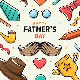 Ręcznie rysowane stylu dzień ojca