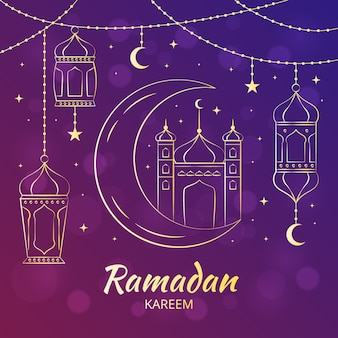 Ręcznie rysowane stylu ramadan kareem