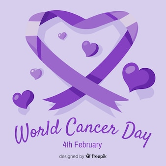 Ręcznie rysowane świat raka dzień tło