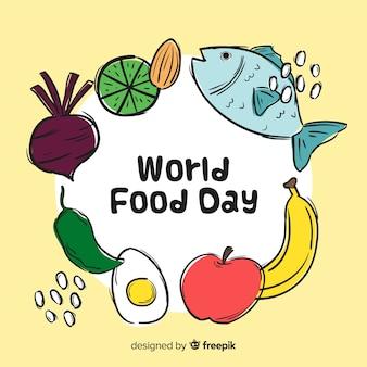 Ręcznie rysowane świata żywności da